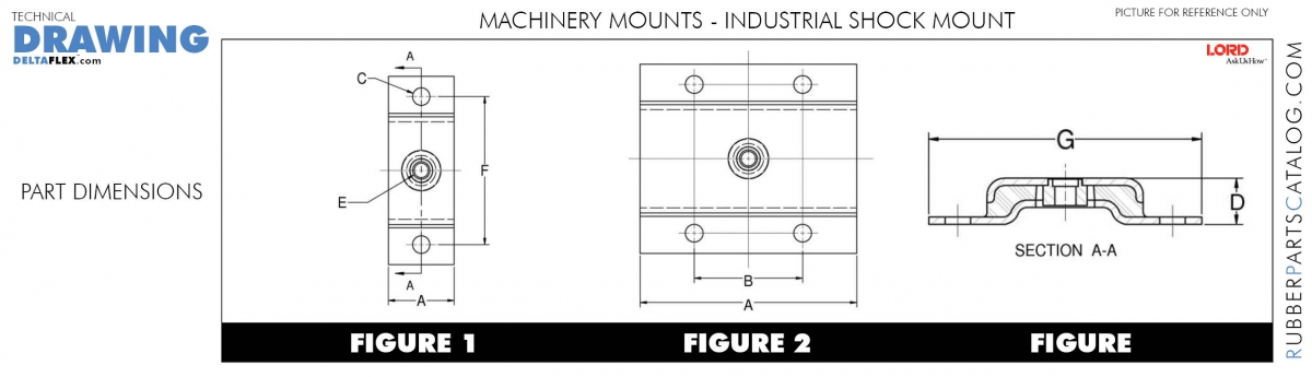 Rubber-Parts-Catalog-Delta-Flex-LORD-Machinery-Mounts-Idustrial-Shock-Table