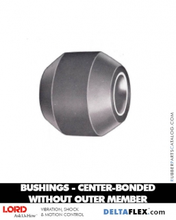 LORD Center Bonded Rubber Bushings without Outer Member