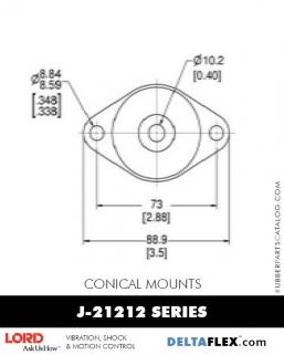 Rubber-Parts-Catalog-Delta-Flex-LORD-Conical-Mounts-J-21212-Series