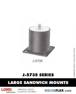Rubber-Parts-Catalog-Delta-Flex-LORD-Flex-Bolt-LARGE-Sandwich-Mounts-J-5735-SERIES