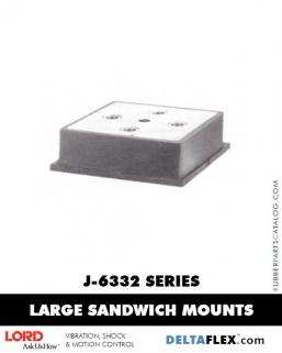 Rubber-Parts-Catalog-Delta-Flex-LORD-Flex-Bolt-LARGE-Sandwich-Mounts-J-6332-SERIES