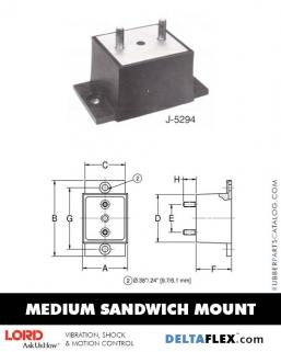 Rubber-Parts-Catalog-Delta-Flex-LORD-Flex-Bolt-Medium-Sandwich-Mounts-J-5294