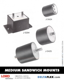 Rubber-Parts-Catalog-Delta-Flex-LORD-Corporation-Flex-Bolt-Medium-Sandwich-Mounts