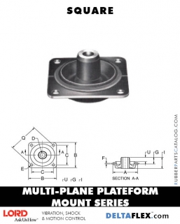LORD Rubber Multiplane Plateform Mount Series   Square