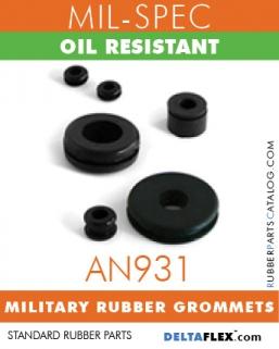 AN931 MIL-SPEC RUBBER GROMMET | OIL RESISTANT MILITARY Rubber GROMMETS