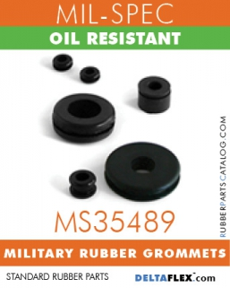 MS35489 Military Grommets | Oil Resistant Mil-Spec Rubber Grommet
