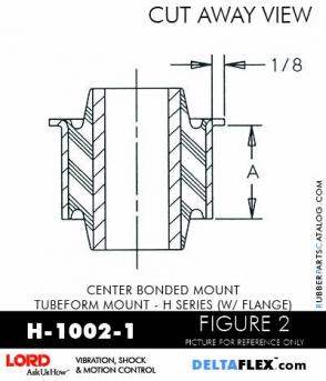 Rubber-Parts-Catalog-Delta-Flex-LORD-Corporation-Vibration-Control-Center-Bonded-Mounts-H-1002-1