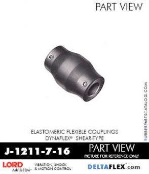 RUBBER-PARTS-CATALOG-DELTAFLEX-Vibration-Isolator-LORD-Dynaflex-Shear-Type-Couplings -Coupling-J-1211-7-16