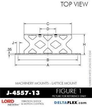 RUBBER-PARTS-CATALOG-DELTA-FLEX-LORD-CORPORATION-VIBRATION-ISOLATER-Machinery-Mounts-LATTICE-MOUNT-J-4557-13