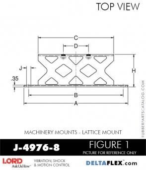 RUBBER-PARTS-CATALOG-DELTA-FLEX-LORD-CORPORATION-VIBRATION-ISOLATER-Machinery-Mounts-LATTICE-MOUNT-J-4976-8