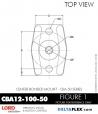 Rubber-Parts-Catalog-Delta-Flex-LORD-Corporation-Vibration-Control-Center-Bonded-Mounts-CBA-12-100-50