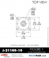 Rubber-Parts-Catalog-Delta-Flex-LORD-Corporation-Conical-Mount-J-21100-10