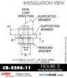 Rubber-Parts-Catalog-com-LORD-Corporation-Two-Piece-Center-Bonded-Mount-CB-2200-Series-OIL-RESISTANT-CB-2205-11