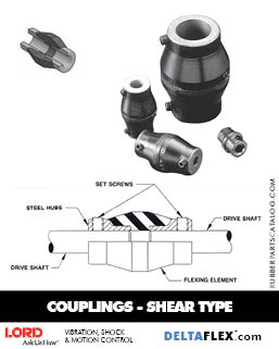 LORD DYNAFLEX Rubber Driveline Coupling - Shear Type